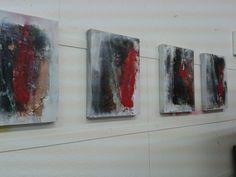 4x30x40er acryl und Pigmente azf Leinwand