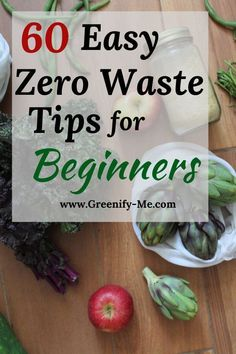 60 Easy Zero Waste Tips for Beginners 60 Easy Zero Waste Tips for Beginners,Zero Waste Want to practice zero waste living but don't know where to start? Here are 60 easy zero waste tips. Reduce Waste, Zero Waste, Sustainable Design, Sustainable Living, Food Storage, Food Waste, Natural Cleaning Products, Easy, Eco Friendly