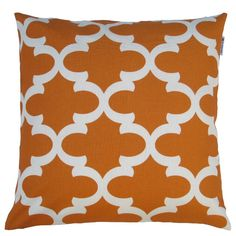 Love these Moroccan inspired #throwpillow, got these for my TV room #modern #orange #morocco
