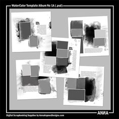 Oscraps :: Shop by Designer :: Anna Aspnes Designs :: WaterColor Template Album No. 1A