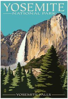 Merced River Rafting - Yosemite National Park, California Vintage Poster Inspiration piece for the nursery! Yosemite California, California National Parks, California Art, Yosemite National Park, California Travel, 3 Canvas Art, Big Canvas, Canvas Size, Yosemite Falls
