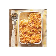 Baked Smokin' Macaroni and Cheese ❤ liked on Polyvore featuring food