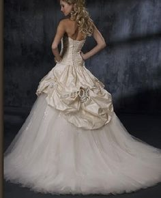 corset bustle wedding gown
