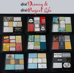 Official Disney and Official Project Life Together: Such a FAST and FUN way to use these products in scrapbooking!
