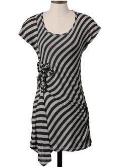 Ella Moss Khloe Striped Dress in Charcoal #clothing #gray @LaylaGrayce