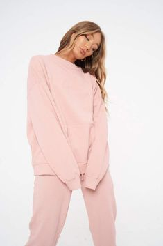 ESSENTIAL OIL WASHED OVERSIZED SWEATER