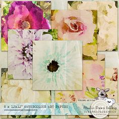 BLOG FREEBIE – WATERCOLOUR ART PAPER FREE on my blog in celebration of iNSD (limited time availability) http://www.dawninskip.typepad.com/  Made to match Watercolour Journal Filler Cards available on my FB Fan Page https://www.facebook.com/DawnInskipDesigns