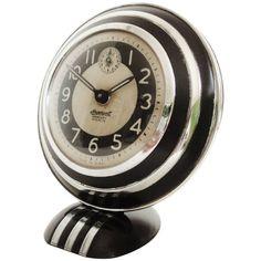 Rare and Iconic American Art Deco, Mercury Radiolite Alarm Clock by Ingersoll |