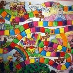 Get inspired by this Candyland wall mural. #Candyland #baby #nursery