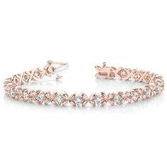Diamant Armband 2.00 Karat Brillanten, 750 Rosegold