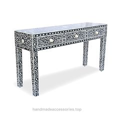 Butler Bone Inlay Handmade Console Table Made Inlay Designers Furniture  Check It Out Now     $1,400.00      Product Code : SSB-1566       Size ( H x W x D) : 30″ x 55″ x 16″  (inches)        Handling Time- 2 to 3 Day ..  http://www.handmadeaccessories.top/2017/03/16/butler-bone-inlay-handmade-console-table-made-inlay-designers-furniture/