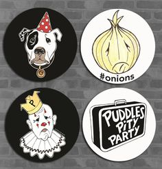 Puddles Pity Party - Puddles Button 4-Pack