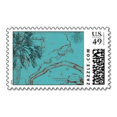Beachwalker Collage - Turquoise Stamp