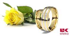 Una alianza con mucha personalidad. Alianza de oro blanco y amarillo de 18K modelo Rayada calibre 6,0 mm #alianzas, #anillosdeboda, #boda, #novias www.cnavarro.com