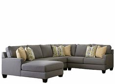 The stunning contemporary design of the Montague 4-piece sectional is a comfortable and stylish addition to any room.