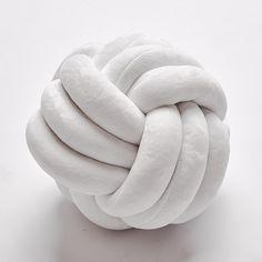 Knot Ball Pillow Household Throw Pillow - 3 Ropes white / 30*30