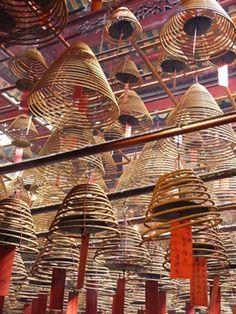 Incense at Man Mo Temple, Hong Kong.