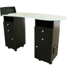 Lanier Manicure Table in Black