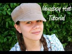 newsboy hat tutorial that I used the brim and headband method to make my 4 yr old strawberry shortcake hat