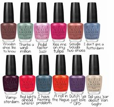"OPI ""Holland"" Spring 2012 Collection"