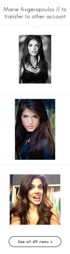 """""""Marie Avgeropoulos // to transfer to other account"""" by fangirl-musician ❤ liked on Polyvore featuring people, marie avgeropoulos, girls, hair, female models, pictures, models, pics, the 100 and 100"""