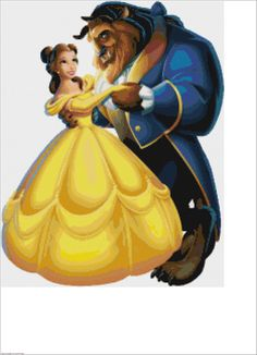 Beauty and the Beast PDF Cross Stitch Pattern by CSDesignsbyLeah, $4.00