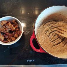 Fläsksås med potatismos - nu är det stekta fläsket kokt - Krubbskrubben