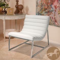 Christopher Knight Home Parisian White Leather Sofa Chair | Overstock.com Shopping - The Best Deals on Chairs