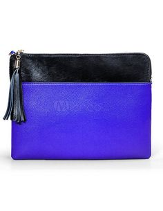 Two tone leather clutch