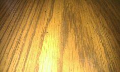 Wood floor were u even get stains on it
