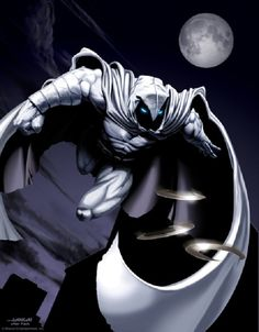 Moon Knight by Scott Johnson (2006)  Art based on provided reference: David Finch drawing [Marvel]