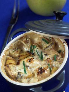 Mini-Cocottes aux Saint-Jacques à la pomme du Limousin, par Michèle Villemur - Pommes AOC du Limousin | la recette sur le site de Gourmets de France