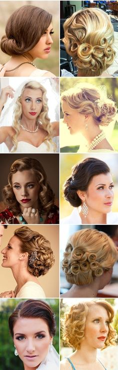 Vintage #bridal looks. #wedding