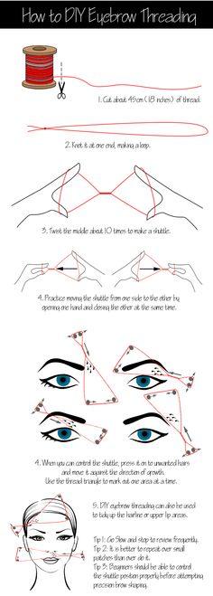 How to DIY Eyebrow Threading | Beauty Lovers