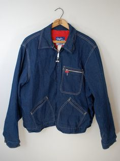 Vintage BIG SMITH Denim Lined Work Jacket by ilovevintagestuff
