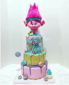 Bolo Trolls Cakes 6th Birthday Parties Party Ideas Cake