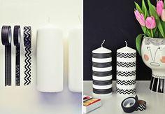 luzia pimpinella BLOG   interior design: meyer lavigne DK blumentopf & DIY washi tape kerzen in schwarz-weiß   meyer lavigne DK flower pot & DIY masking tape candles in b&w