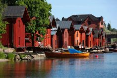 Porvoo - Porvoo river boathouses, Finland