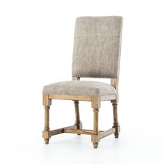 "MSRP $585 Contractor Price $235  ASHTON DINING CHAIR    High-backed shaping is covered in a jute stonewash fabric that adds the look and feel of casual elegance. Seating is accented with spit-tacks and framed in warm, honey-toned wood.  Dimensions: W: 20"" D: 24.25"" H: 41.75"""