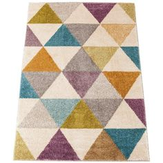 Triangle Rug (52 CAD) ❤ liked on Polyvore featuring home, rugs, olefin area rug, pastel area rugs, woven area rugs, polypropylene area rugs and pastel rug