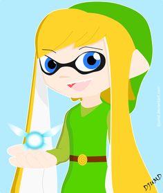 Crossover Link of Zelda and Inkling girl by DJUMD.deviantart.com on @DeviantArt