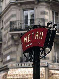 Metro Sign Paris France by Jon Arnold