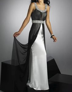 Black & White Formal Mother of the Bride Dress Evening party prom Gown Custom