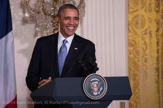 President Obama at Joint Press Conference with President Hollande (France)