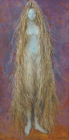 """Ceres was the Roman Goddess of agriculture and grain. The word cereal is derived from her name. Goddess of self-nourishment, earth, abundance, She was personified and celebrated by women in secret rituals during festivals. - """"Ceres"""" by Leonor Fini (1954 )"""
