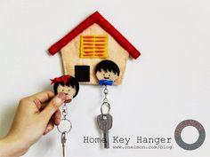 Porta chaves de casinha