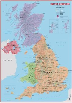 Best UK Maps Images On Pinterest Wall Maps Britain And Business - Large wall map of uk