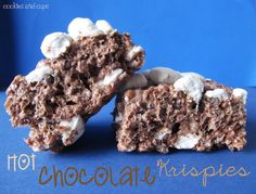 Cookies and Cups Hot Chocolate Krispies- I'd use regular rice krispies with the hot chocolate marshmallow mix