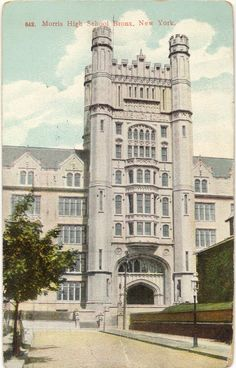 Amazon.com : 1909 Vintage Postcard Morris High School Bronx New York : Blank Postcards : Office Products