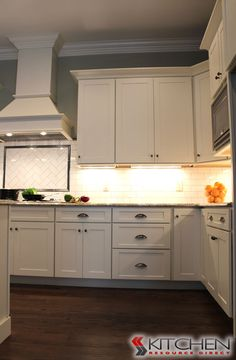 Ready to assemble cabinets with upgraded under cabinet light rail and deep drawers.